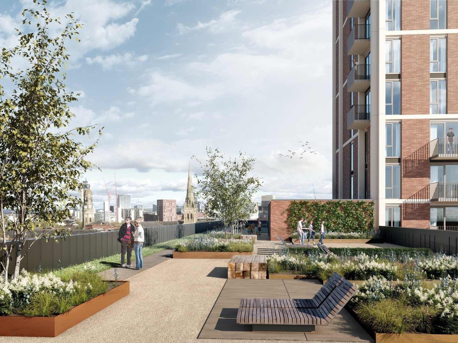 Rooftop garden terrace