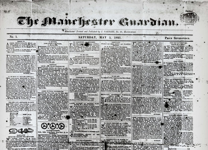 the manchester guardian may 5 1821