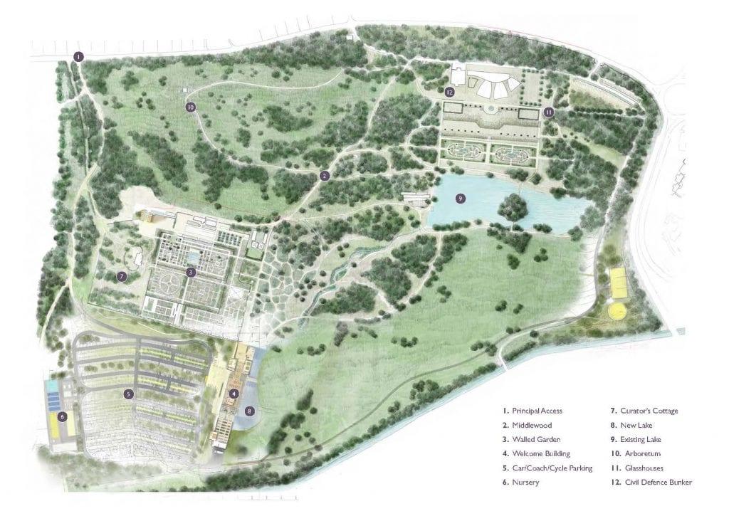 RHS Bridgewater Masterplan with Key 1